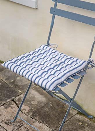 QUALITY French Style Bistro Seat Pad / Kitchen Chair Seat Pad Cushion With  Ties   Soft