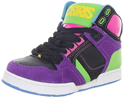 049bd170fa4079 Osiris Youth-Girl s NYC 83 Slim Multi   Black   Lime Skate Shoes   Amazon.co.uk  Shoes   Bags