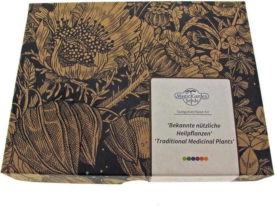 Magic Garden Seeds Plantas medicinales - Kit de Semillas Regalo con 5 Hierbas con Fuerzas curativas