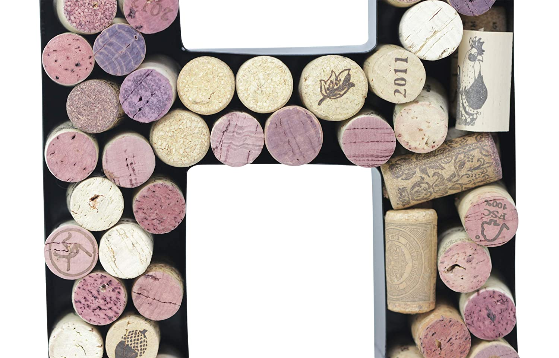 B Metal Letter Wine Cork Holder Monogram w//Free Wall Mount Kit A-Z,