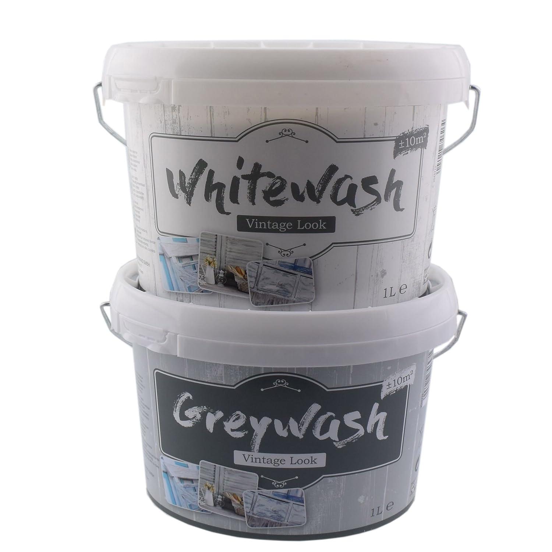 Kreidefarbe für Holz Vintage Shabby Chic Antiklook Grey wash - grau ...