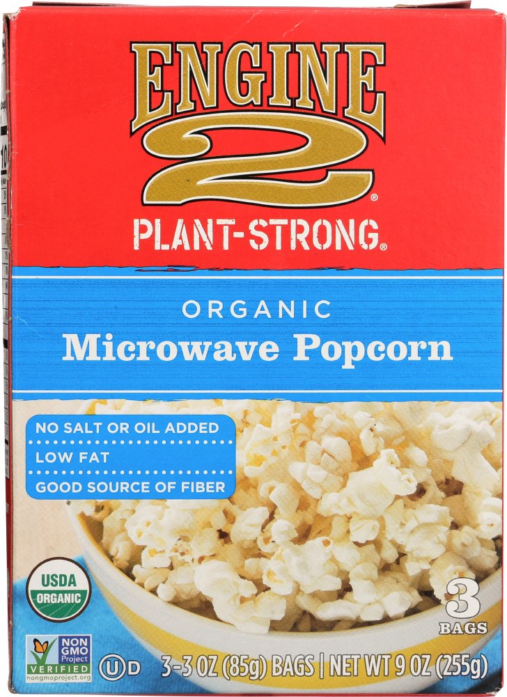 Engine 2, Organic Microwave Popcorn, 3 ct by Engine 2