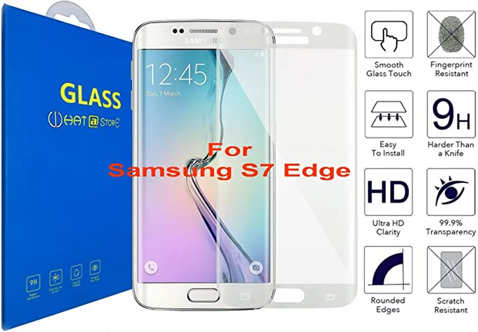 Samsung Galaxy S7 Edge - Curvo 3D Cristal Templado Protector de ...