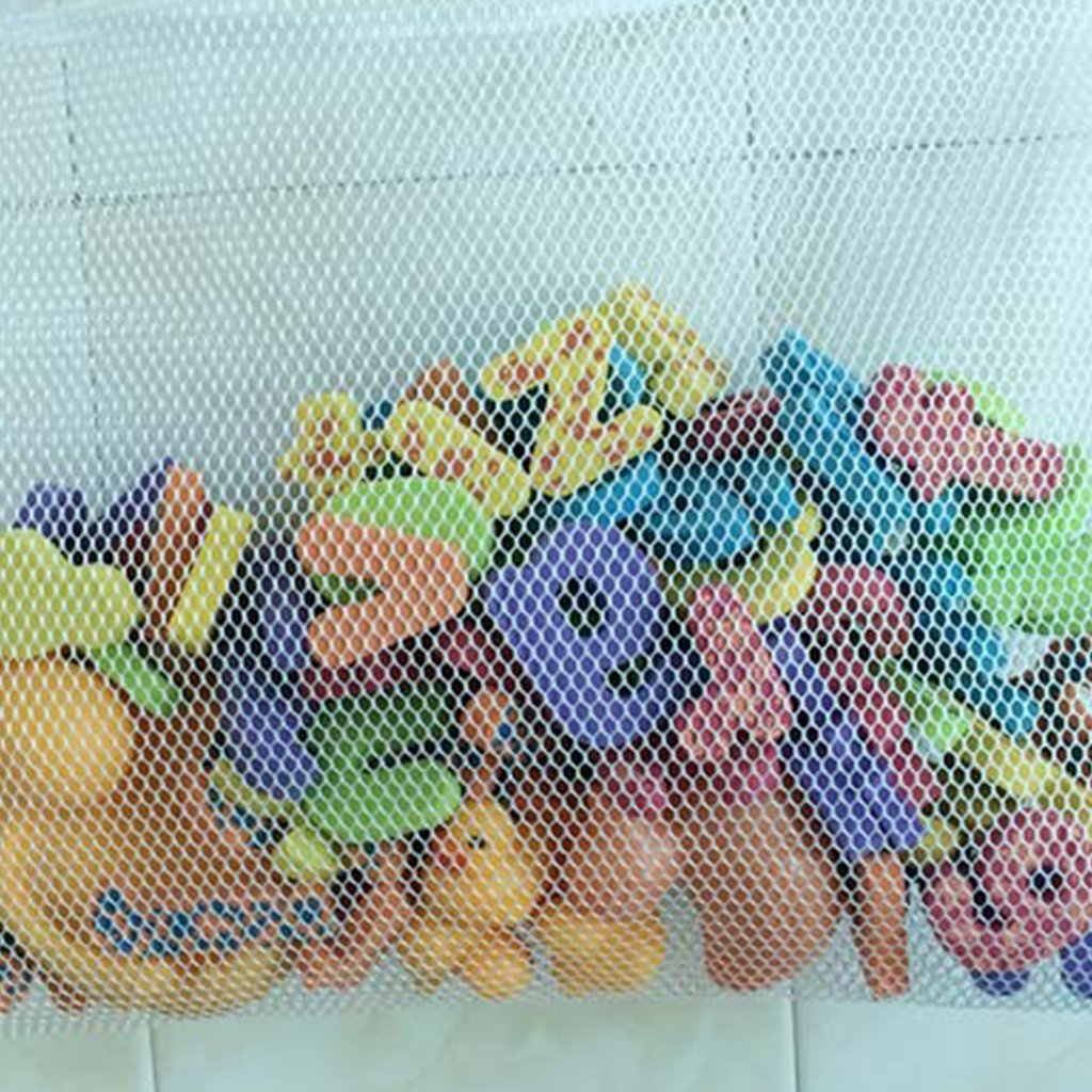 Xuniu Baby Kids Vasca da Bagno Giocattolo portaoggetti in Rete a Rete portaoggetti portaoggetti Bagno Blu