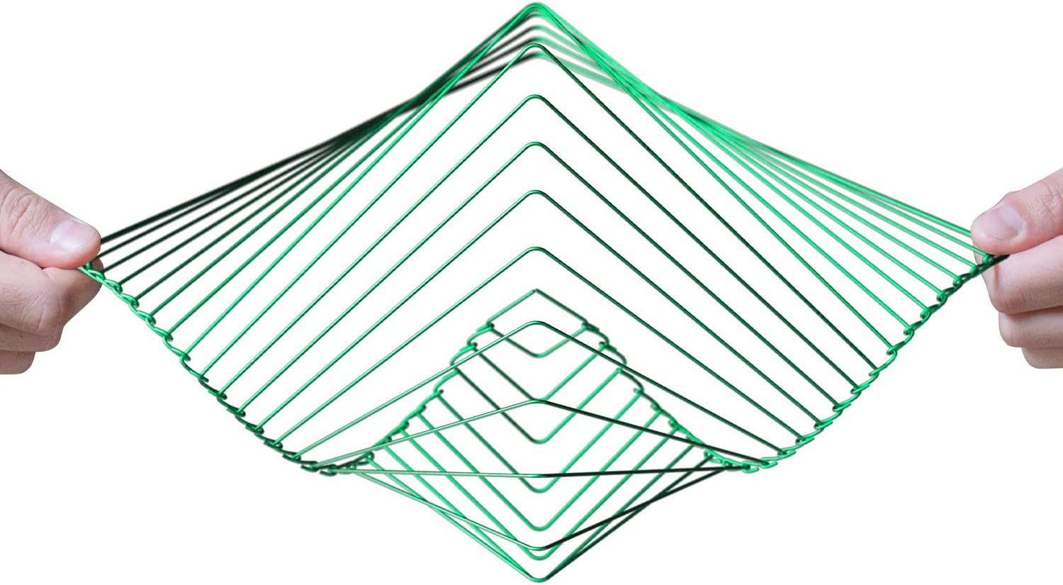 Atellani Square Wave | The Mesmerizing Kinetic Wind Spinner | Magical Calming Art Piece by Ivan Black (Green)