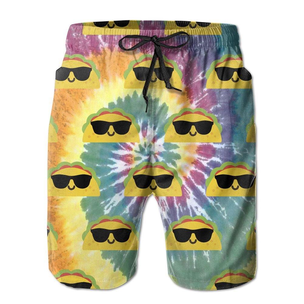 Taco Tie Dye Mens Basic Boardshorts M With Pocket