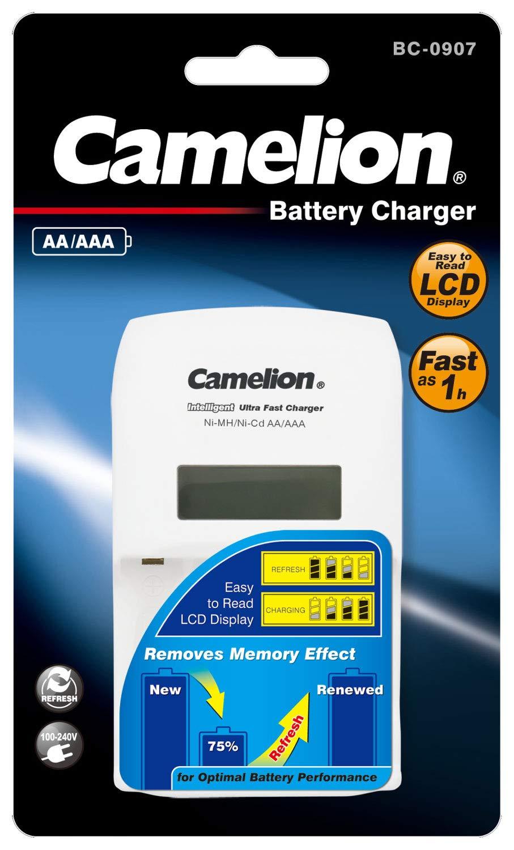Camelion BC-0907 - Cargador rápido inteligente para pilas ...