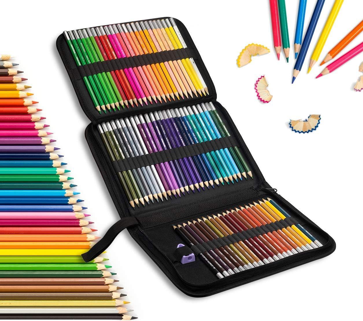 Erwachsene Malb/ücher Farbmischung Malen und Skizzen Aquarellstifte Set Queta Wasservermalbar Aquarell Zeichnen Bleistifte Ideales Set f/ür K/ünstler Kinder 72 Buntstifte Set