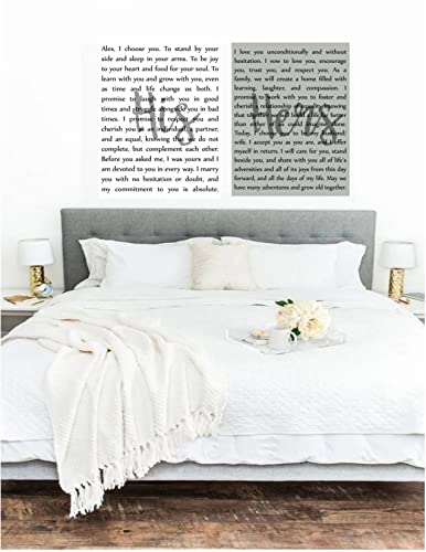 Amazon Com Wedding Vow Art His And Hers Canvases Custom Wedding