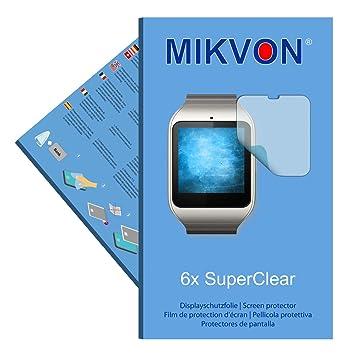 Mikvon 6X SuperClear Película de protección de Pantalla para Sony SmartWatch 3 - Transparente - Protectores de Pantalla Fabricado en Alemania ...