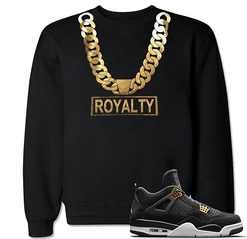 FTD Apparel Men's Gold Chain Royalty Crew Neck Sweater