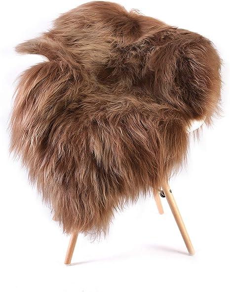 Real Premium Iceland Sheepskin Lambskin Fur Topgegerbt Yellow 100-110cm