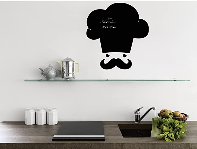 Lavagna adesiva Stickers murali lavagna per cucina Il cuoco: Amazon ...