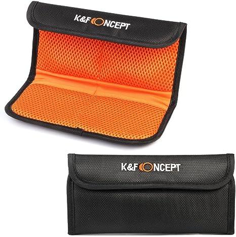 iGadgitz 4 Pocket Lens Filter Bag Pouch Wallet Case for SLR /& DSLR Cameras