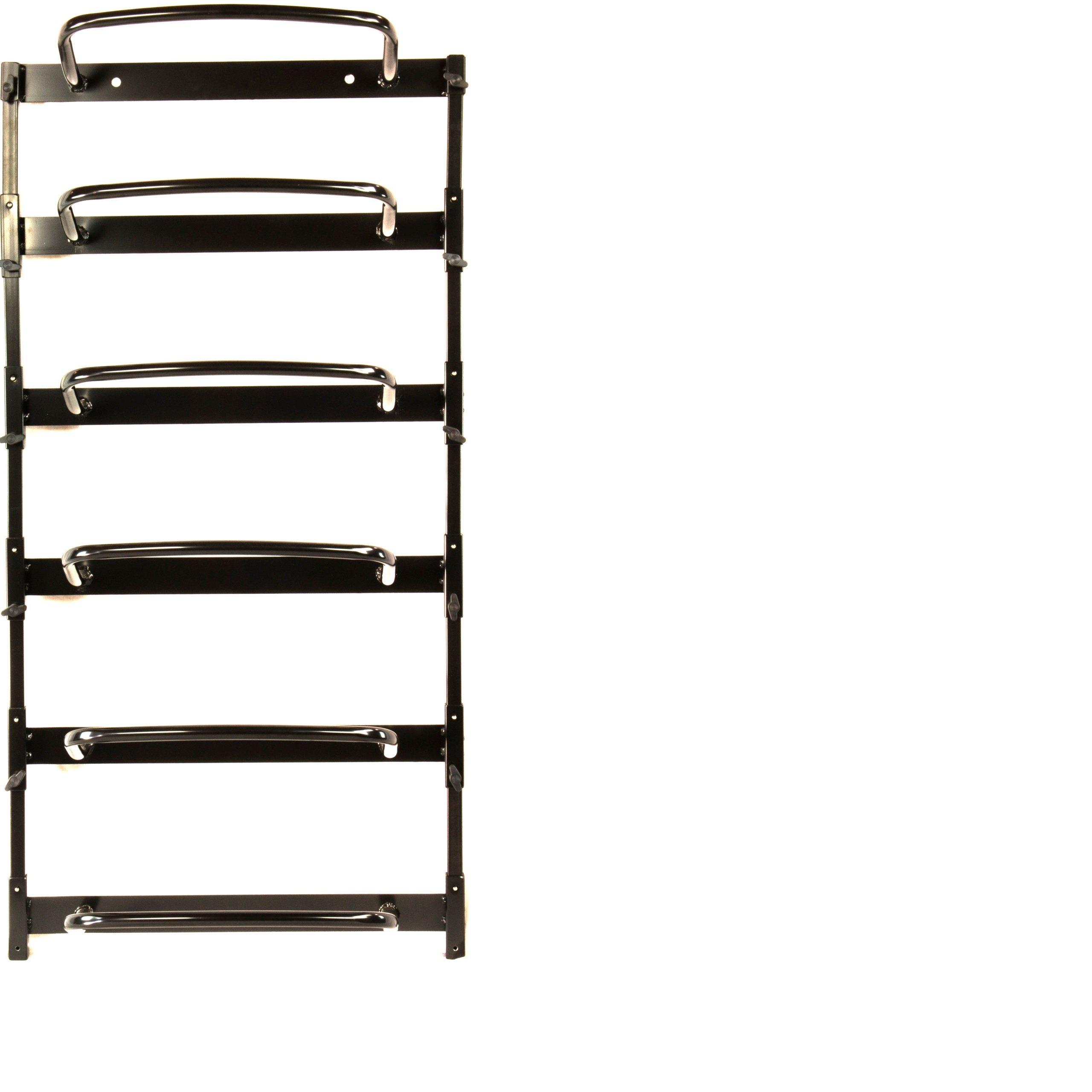 Foam Roller Rack in Black (6 pcs - Foam Roller Rack)