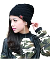 Women's Girls Winter Chunky Soft Stretch Cable Knit Slouch Beanie Skully Hat Crochet Cap