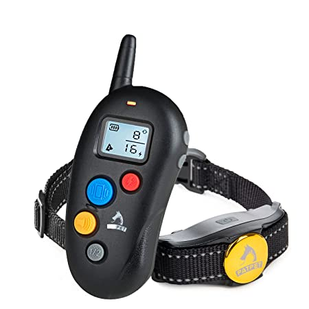 Patpet Training Collar Vibration Electric Shock Collars For Dogs 8 Levels IP7 Waterproof Remote Control Device