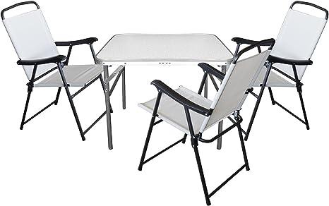 Juego de 4 camping Sillas para mesa plegable 75 x 55 x H60 cm ...