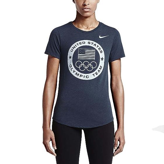 NIKE WOMEN'S USA Olympic Team 2016 Top crew neck Athletic Tee Shirt ...