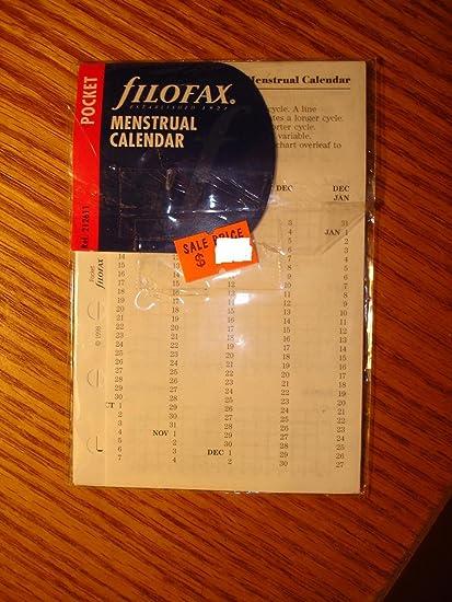 Amazon.com : filoFax 132611 Personal Organizer Menstrual ...