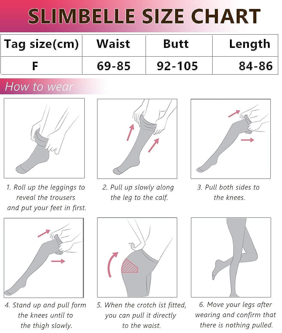 SLIMBELLE Leggings Modellante Vita Alta Pantaloni Anticellulite Donna Snellente Leggins Shapewear Massaggiante Contenitiva Tights Nero