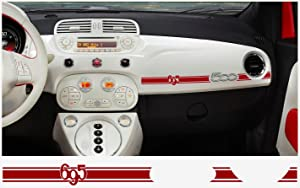 FIAT 500 Abarth Dashboard Decal 2 pcs. 695 (red)