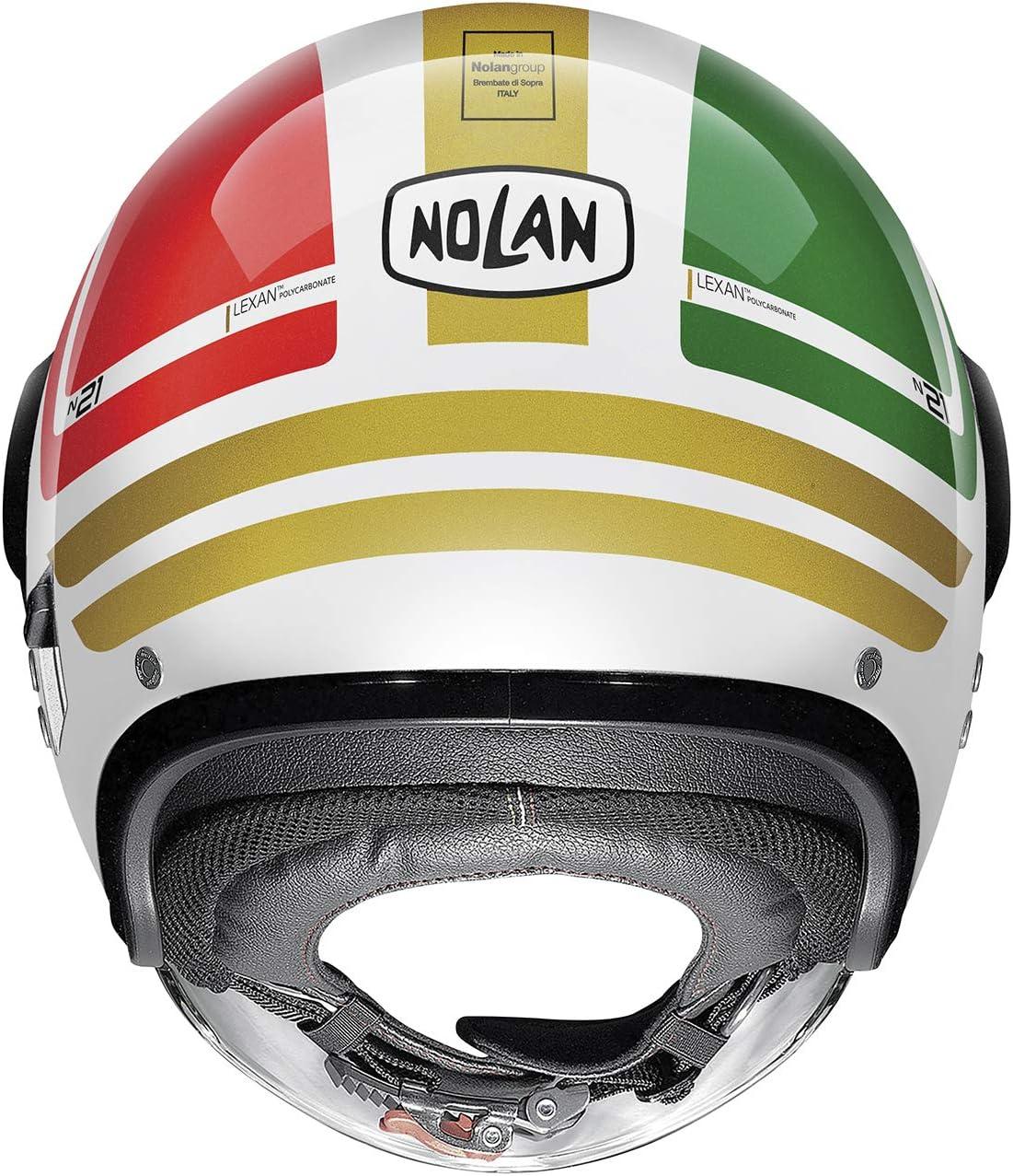Nolan CASCO N21 VISOR FLYBRIDGE METAL WHITE XXS