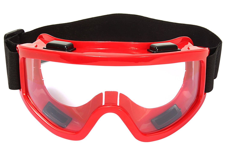 0715182d18 Okayji Generic Adult Motorbike Motocross Atv Dirt Bike Racing Transparent  Goggles with Adjustable Strap (