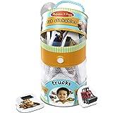 Melissa & Doug Tub Stickables – Trucks (Soft Shapes Bath Toy, 20 Foampiece)