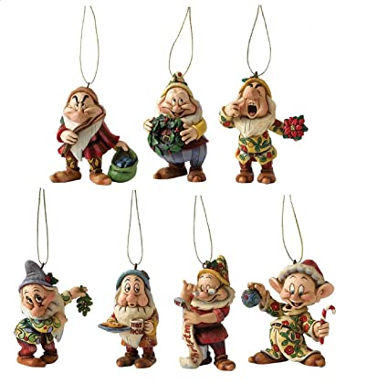 Disney Christmas Decoration Precarious Pyramid Seven Dwarfs Figurine