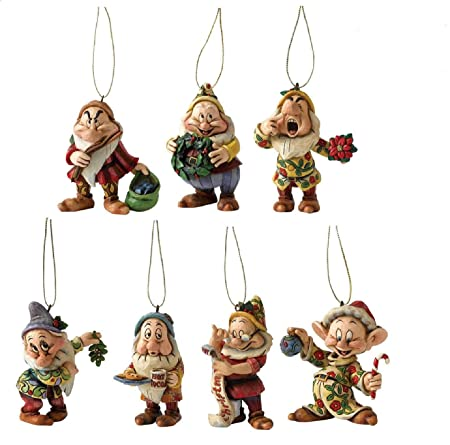 disney showcase collection of the seven dwarfs christmas tree decorations
