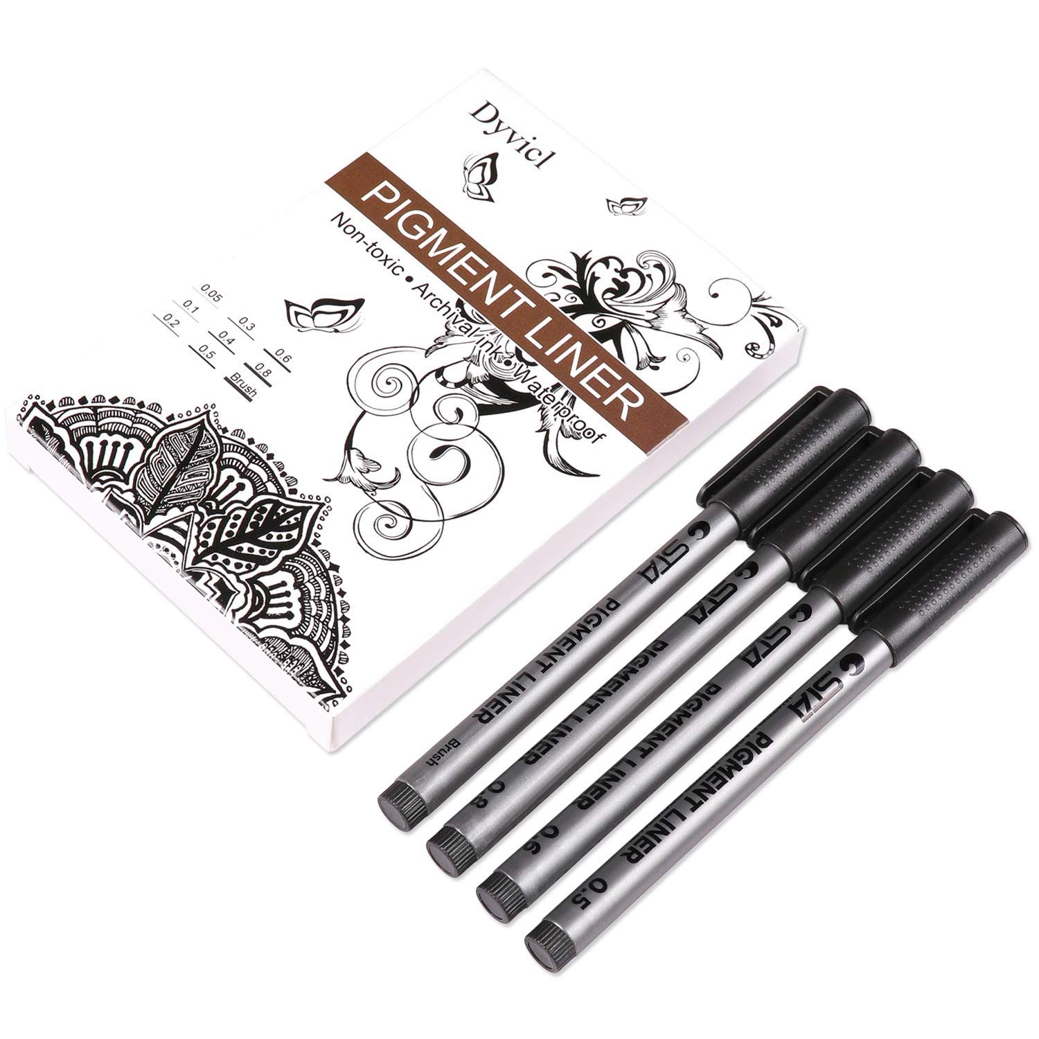 Dyvicl Black Micro-Pen Fineliner Ink Pens - Waterproof Archival Ink Micro Fine Point Writing Drawing Pens for Sketching, Anime, Artist Illustration, Technical Drawing, Office Documents, Scrapbooking by Dyvicl (Image #9)