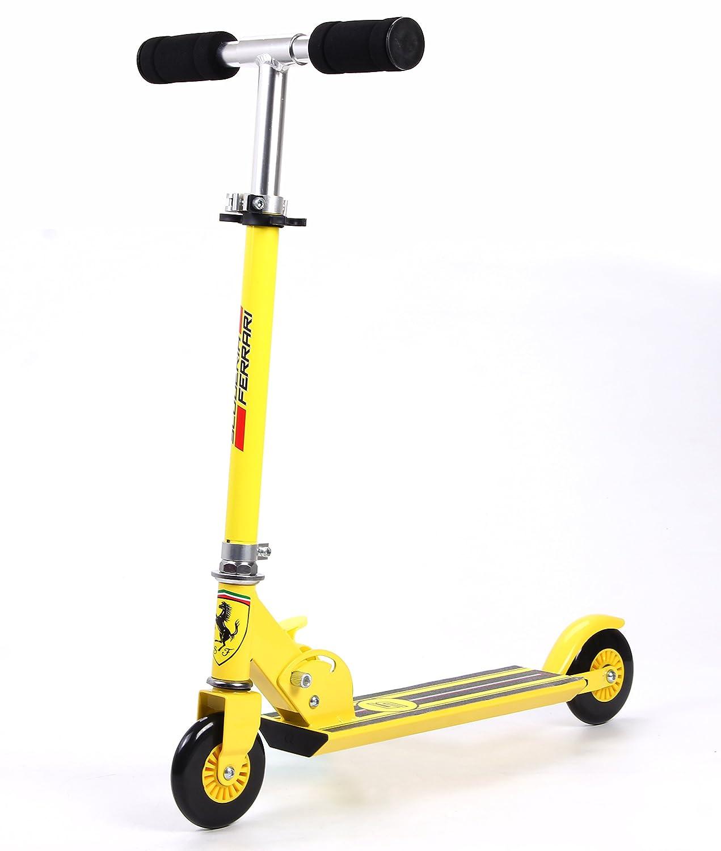 Ferrari Kids Two Wheels Scooter, Yellow