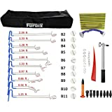 PDR Rod Dent Removal Tools Furuix 22pcs PDR Tool Paintless Hail Removal Dent Puller Tap Down Auto Car Ding Dent Repair Kit Rod Hook Wedge Paintless Dent Repair Tools