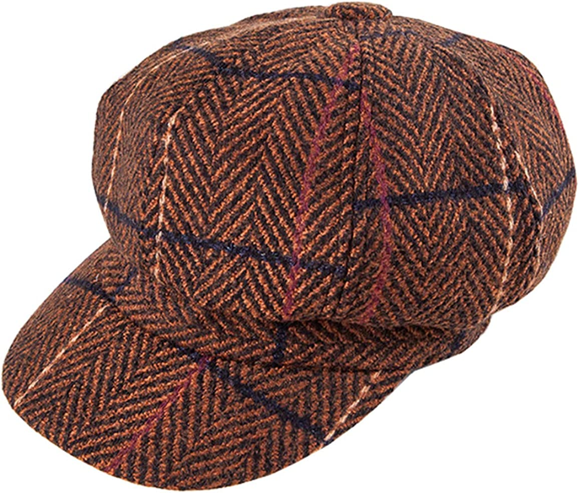Plaid Twill Newsboy...