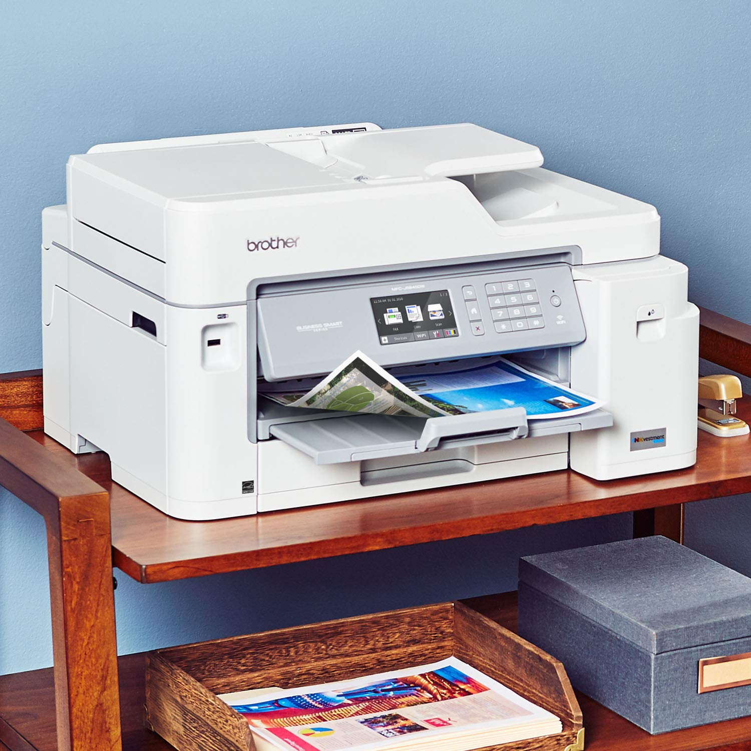 Brother Inkjet Printer, MFC-J5845DW, INKvestment Color Inkjet All-in-One Printer with Wireless, Duplex Printing and Up to 1-Year of Ink in-Box, Amazon Dash Replenishment Enabled by Brother (Image #3)