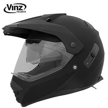 Vinz – Casco de moto, motocross, cross, tallasXS-XL | casco con