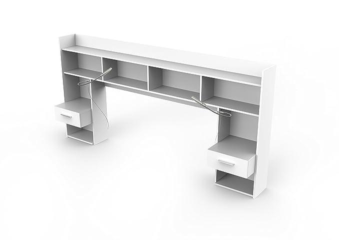 Chipboard Pearl White 221.8 x 37.6 x 108.5 cm Demeyere Headboard LxWxH