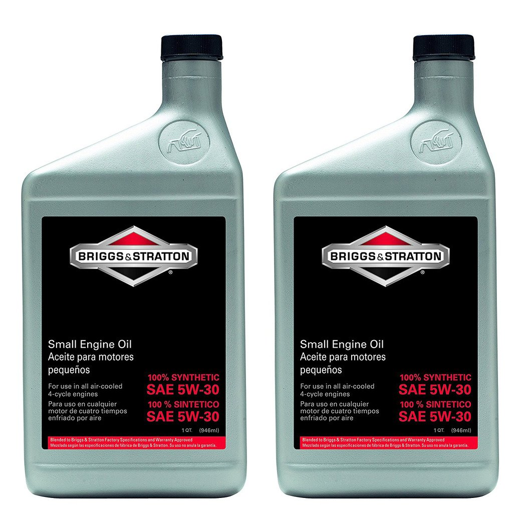 Briggs and Stratton 100074 Pack of (2) 1-Quart 5W-30 Synthetic Oil