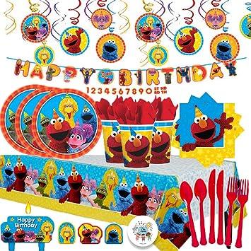 Amazon.com: Sesame Street MEGA - Pack de 16 servilletas ...