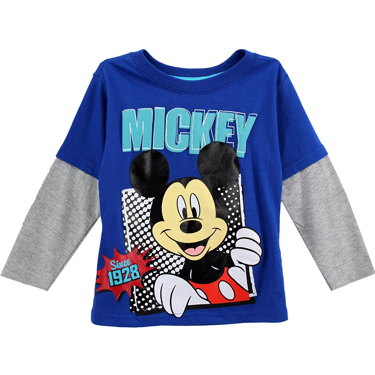 Amazon Mickey Mouse Toddler Blue T Shirt 8J6338 Clothing