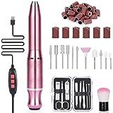 Torno para uñas, Winpok Lima de Uñas Eléctrica, Kit de Manicura y Pedicura Electrico Profesional con Set de 11 Tipos de…