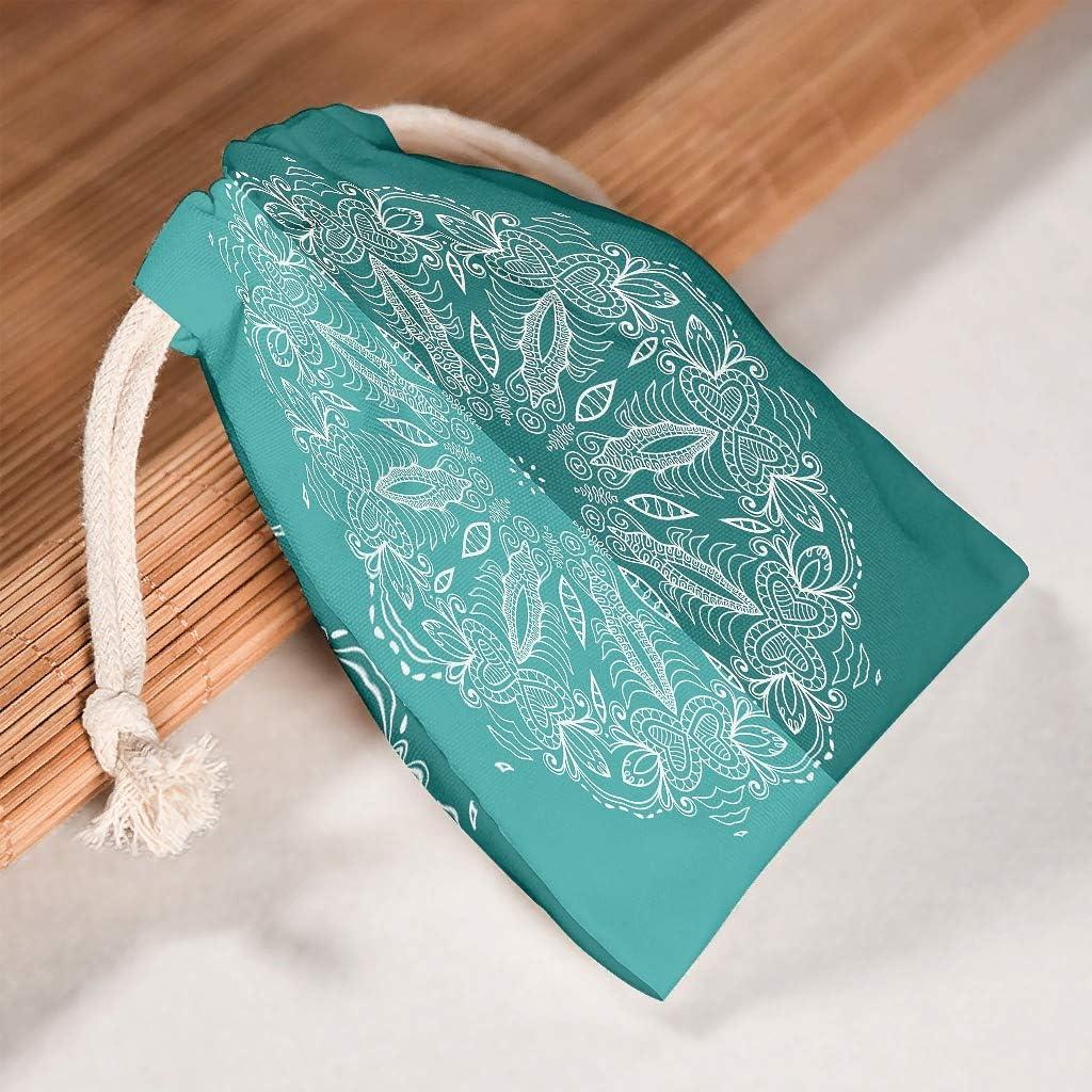 Lind88 - Bolsas de Tela para Dulces (6 Unidades), diseño de Mandala, Color Verde y Verde, Tela, Blanco, 12 * 18cm: Amazon.es: Equipaje