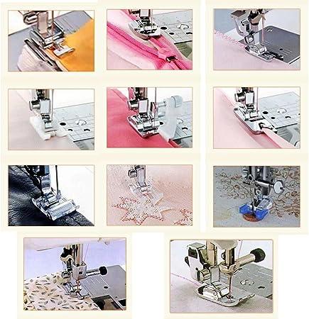 JZK 11 x Kit prensatelas para máquina coser con caja para Alfa ...