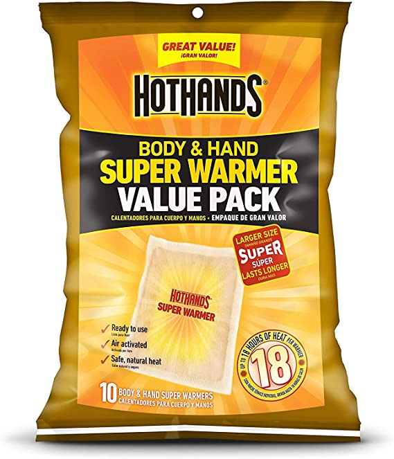 40 Pack Case HotHands Extra Large 18 Hour Super Hand and Body Warmer