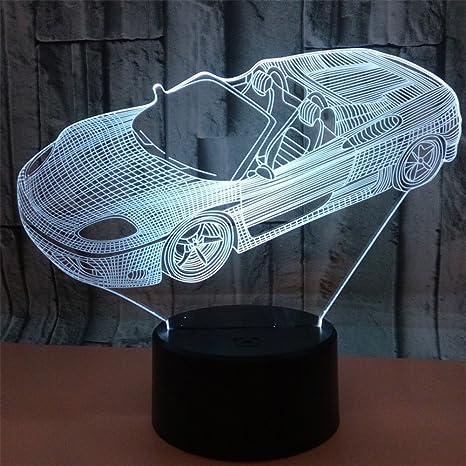 Amazon Com Ruiyi Car 3d Illusion Table Lamp Visual Sports Car Lamps