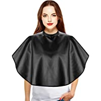 Noverlife Waterproof Chemical Resistant Short Barber Cape for Hair Coloring Curling Ironing Conditioning Wet Wash, Mini Haircut Smock Styling Bib, Beauty Salon Shotie Makeup Cape for Shaving Comb Out