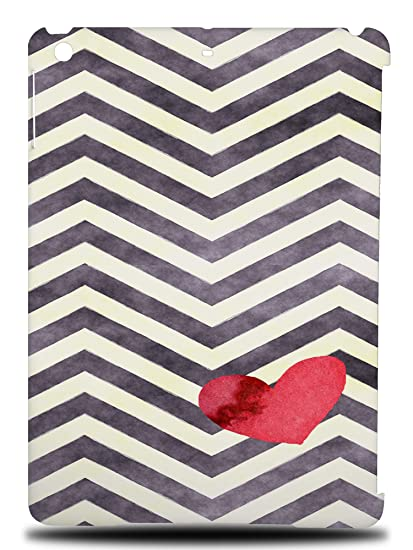 d500b784e3 Amazon.com: Zig Zag Red Heart Pattern #1 Hard Back Case Cover for ...
