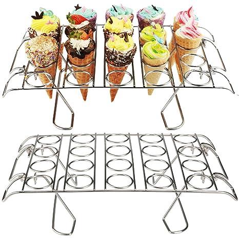 Amazon.com: Soporte para cupcakes pbogo, soporte para cono ...