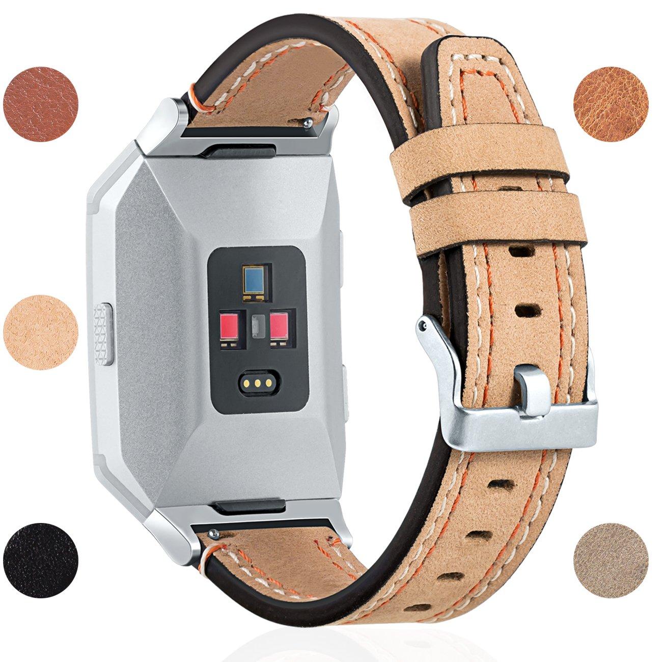 For Fitbit Ionic交換用時計バンド、本革バンドスポーツストラップAccessory for Fitbit Ionic Smartwatch、バックル、色 One size 5.5